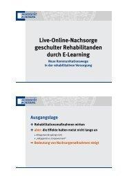 Live-Online-Nachsorge in der Rehabilitation - Zentrum ...