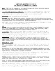 2012-13 Class Course  Descriptions - Eastmont Junior High School