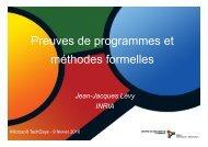 Preuves de programmes et méthodes formelles - Inria