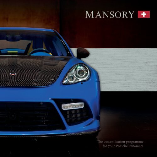 The customization programme for your Porsche Panamera - Mansory