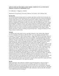 APPLICATION OF THE SIMULATION MODEL CROPSYST TO AN ...