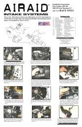 Installation Instructions Part Number 450-304 2005-09 Ford ... - Airaid