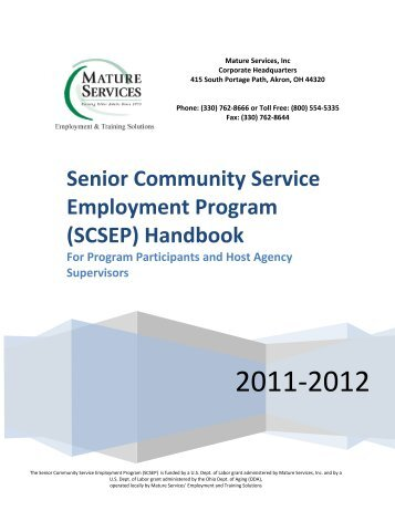 Senior Community Service Employment Program ... - Mature Services