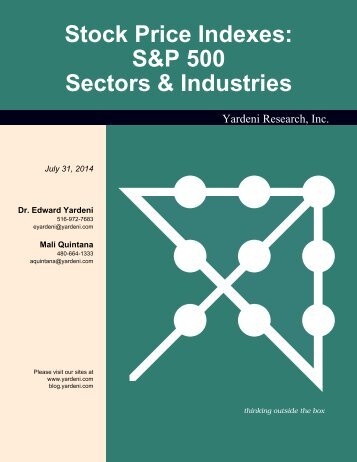 S&P 500 Sectors & Industries - Dr. Ed Yardeni's Economics Network