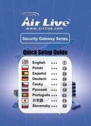 AirLive Security Gateway Series Quick Setup Guide