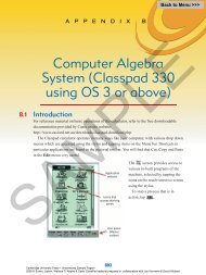 Casio Classpad appendix.pdf - Cambridge University Press