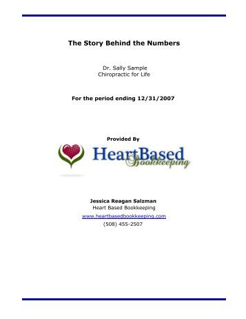 A ProfitCents report for: sample-company - Heart Based Bookkeeping