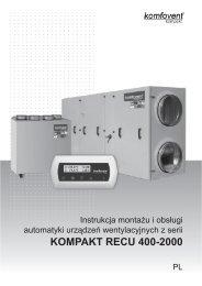 KOMPAKT RECU 400-2000 - Komfovent