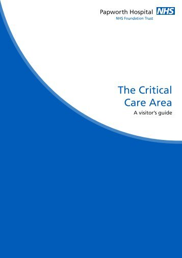 The Critical Care Area - Papworth Hospital