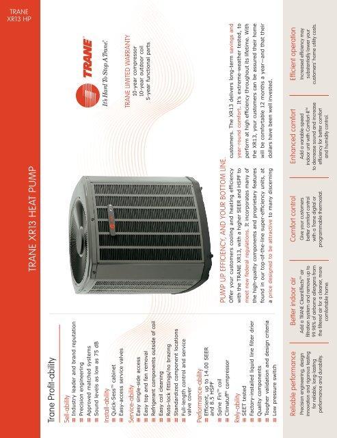 Trane XR13 Heat Pump Condenser