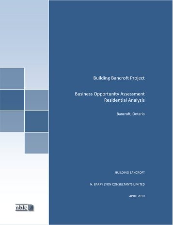 Bancroft Business Opportunity Assessment Report - Commercial