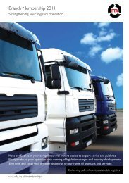 Branch Membership 2011 - Freight Transport Association