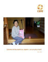 un an plus tard - mars 2012 (2.4Mo PDF) - CARE Canada