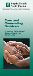 0629 Caring Counseling broch - Baptist Health South Florida