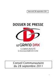 DOSSIER DE PRESSE - Grand Dax