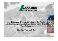 die Einführung bei der Lafarge Dachsysteme GmbH ... - Deine Haut