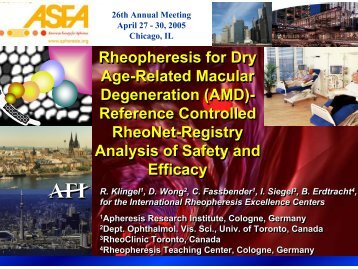 Rheopheresis for Dry Age-Related Macular Degeneration (AMD ...