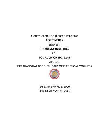 Underground Construction Company Inc Ibew Local 1245