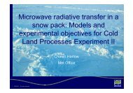 Microwave radiative transfer in a snow pack: Models and ... - JULES