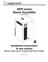 SKR series Steam Humidifier - Neptronic