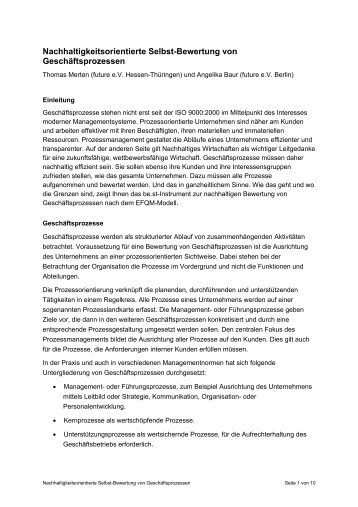 Nachhaltigkeitsorientierte Bewertung von ... - bei dbc-consult