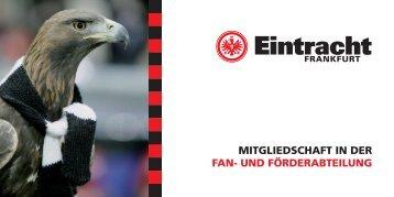 mitgliedschaft in der fan- und förderabteilung - Eintracht Frankfurt e.V.