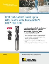 Drill Flat-Bottom Holes up to 40% Faster with Kennametal's B707 ...