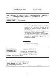 CIRCULAIRE N˚ 00584 DU 07 août 2003 - Enseignement en ...