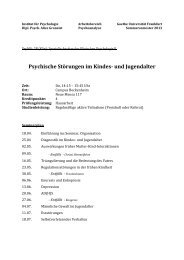 Psychische Störungen im Kindes- und Jugendalter - Psychoanalyse ...
