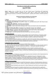 201001 Všeobecné obchodní podmínky platné od 1.1.2010 - Efko