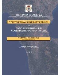 provincia di cosenza piano territoriale di coordinamento provinciale