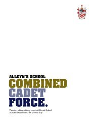 COMBINED CADET FORCE. - Alleyn's School