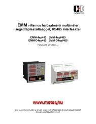 EMM hálózatmérők RS-485 interfésszel - C+D Automatika Kft.