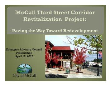 Economic Advisory Council Presentation April ... - The City of McCall