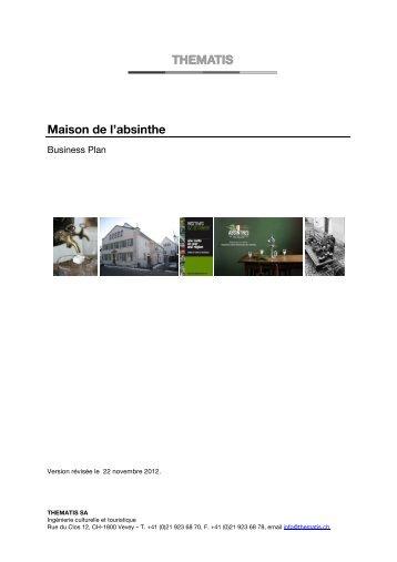 Business plan, révision du 22.11.2012 - Val-de-Travers