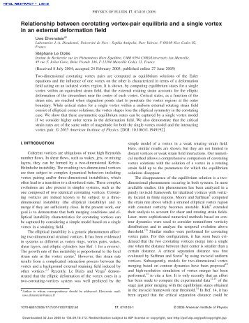 Paper - IRPHE, Institut de Recherche sur les Phénomènes Hors ...