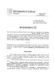 Rozhodnutí ve věci odvolání proti rozhodnutí NPÚ č - Ministerstvo ...