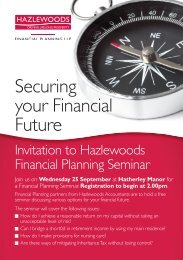 Securing your Financial Future - Hazlewoods