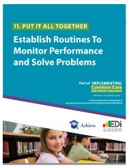 Establish Routines To Monitor Performance and Solve ... - Achieve
