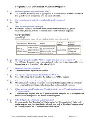 Frequently Asked Questions: IEP Goals and Objectives