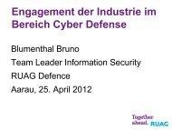 Engagement der Industrie im Bereich Cyber Defense - ISSS