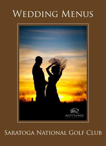 Wedding Menus - Saratoga National