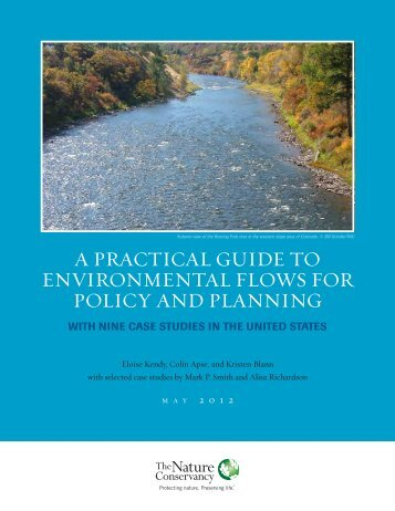 a practical guide to environmental flows for policy and planning