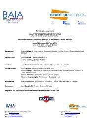 Brochure dell'evento - Baia