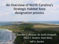 An Overview of North Carolina's Strategic Habitat Area ... - GeoTools