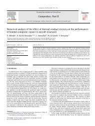 Numerical analysis of the effect of thermal residual stresses on the ...