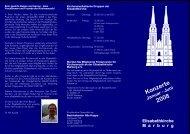Konzerte 2008 - Elisabethkirche