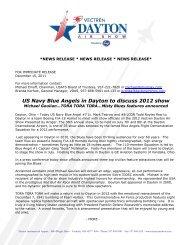 US Navy Blue Angels in Dayton to discuss 2012 ... - Dayton Air Show