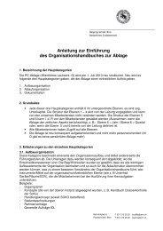 Anleitung zur EInführung des Handbuchs zur Organisation der Ablage