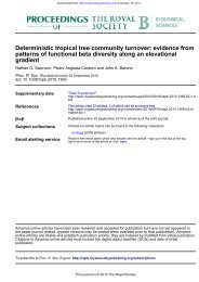 gradient patterns of functional beta diversity along an elevational ...